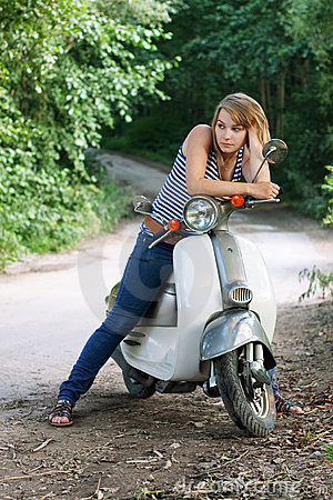 Girl on a scooter