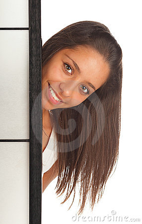 Girl with screen