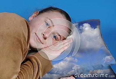 Girl sets to sleep