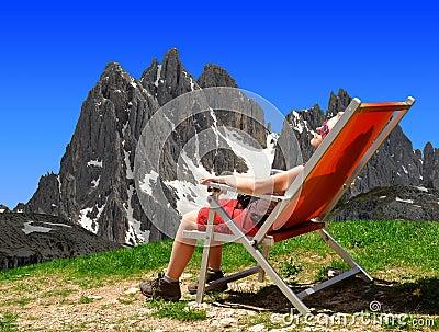 Girl in the Sexten Dolomites