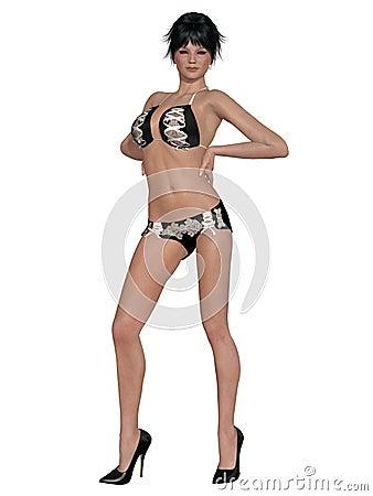Girl with sexy underwear