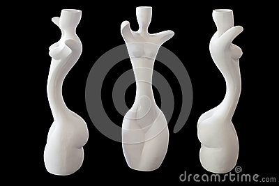 Girl shape ceramic vase
