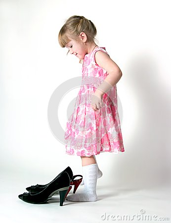 The girl and shoes