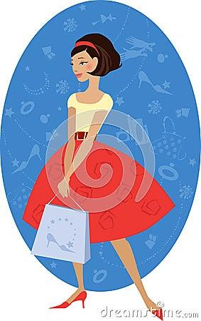 Free Girl Shopping Stock Image - 1800111