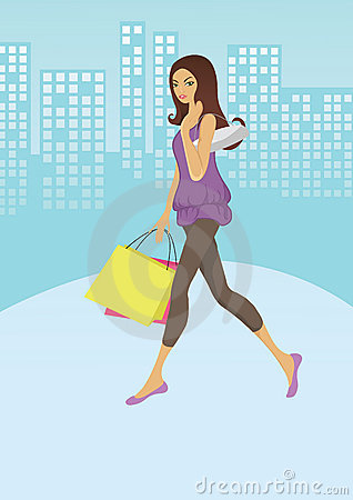 Girl shopping