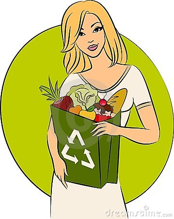 Girl with a shopping bag
