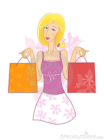 Girl With Shopping Bags Stock Photos - Image: 13080073