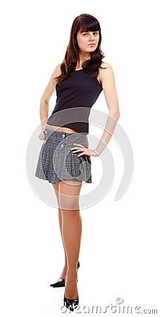 Girl in short skirt