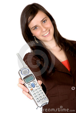 Girl showing a phone