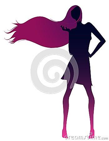 Girl silhouette