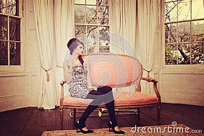 Girl in sitting room