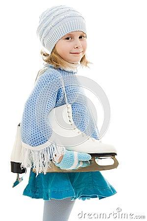 A girl with skates