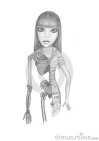 Girl-skeleton