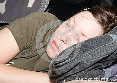 Girl a sleep