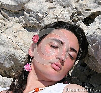 Free Girl Sleeping Stock Image - 787261