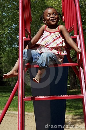 A Girl On A Slide