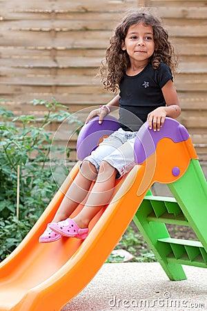 Girl and slide