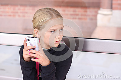 Girl with smartphone