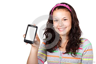 Girl With Smartphone Free Public Domain Cc0 Image