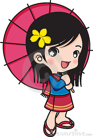 Girl smiling with umbrella