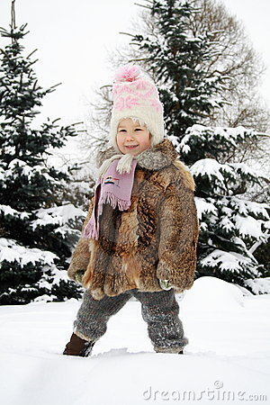 Girl Smiling In Winter Stock Images - Image: 13211764