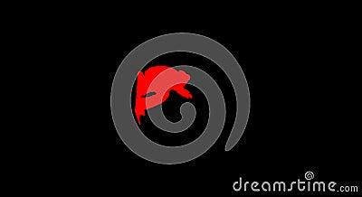 Girl snoboarder red on black
