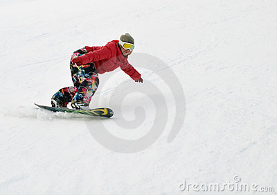 Girl on snowboard