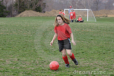 Girl at Soccer Field 16