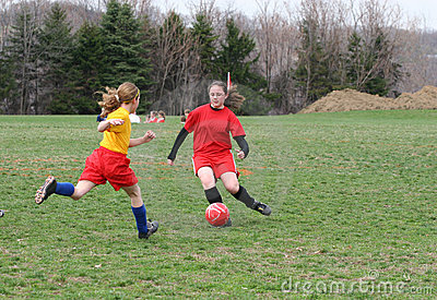 Girl at Soccer Field 19