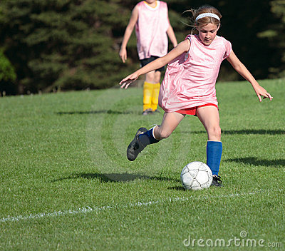 Girl at Soccer Field 1A