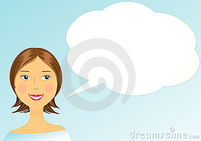 Girl with space for text