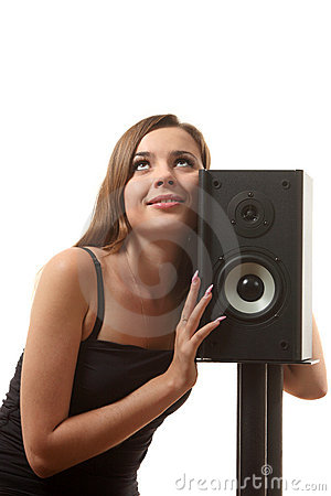 A girl and a speaker