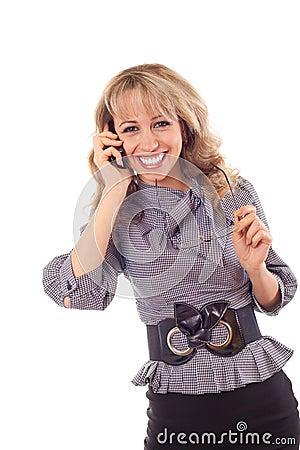 Girl speaking on the mobile