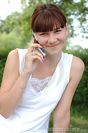 Girl speaking on phone