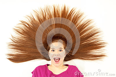 Girl with spiked hair