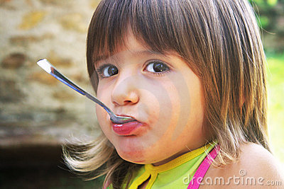 Girl with spoon