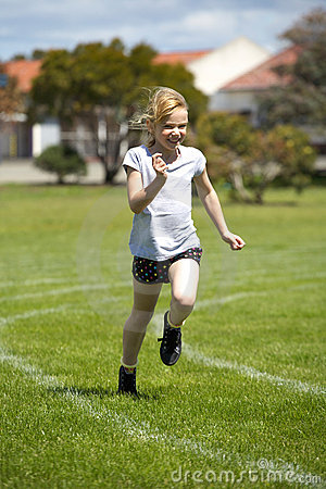 Girl in sports race