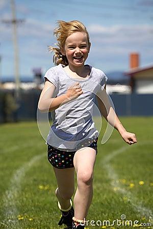 Girl in sports race