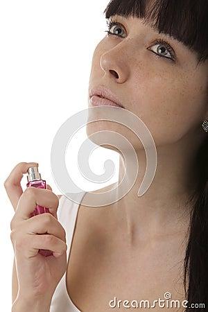 Girl spraying