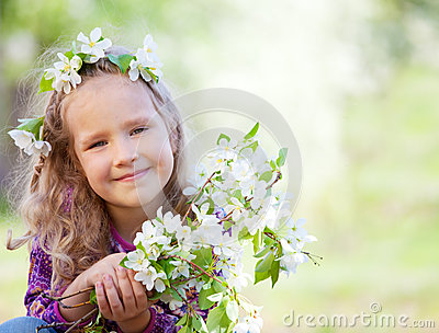 Girl at spring park