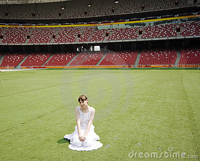 Girl in stadium