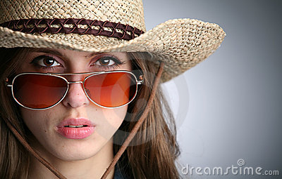 Girl in stetson