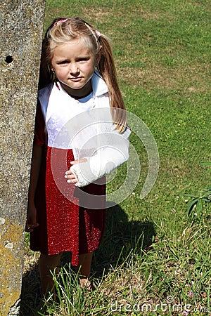 Girl by the Stone Bollard