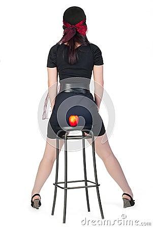 Girl on stool