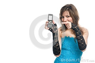 The girl suggests to call by phone