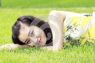 Girl in summer.