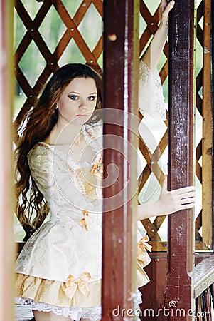 Girl in  summerhouse