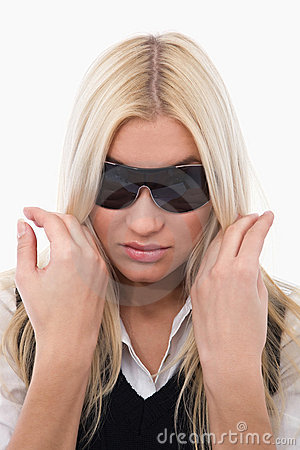 Girl with sunglass