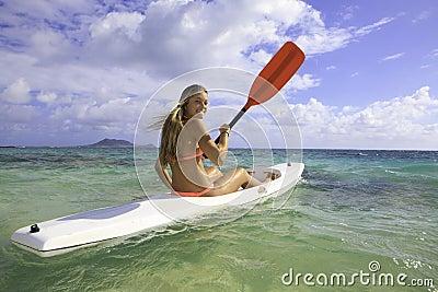 Girl with surfski