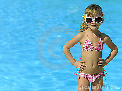 Girl in the swimming pool